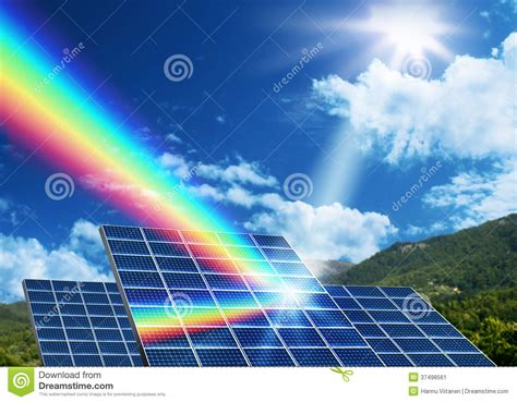 Concepto De Energía Solar De La Energía Renovable Imagen ...
