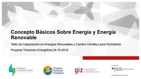 Conceptos Básicos en Energía y Energía Renovable by ...