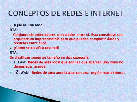 Conceptos de redes e internet