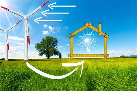 Concetto Di Casa Ecologico Dell energia Eolica ...