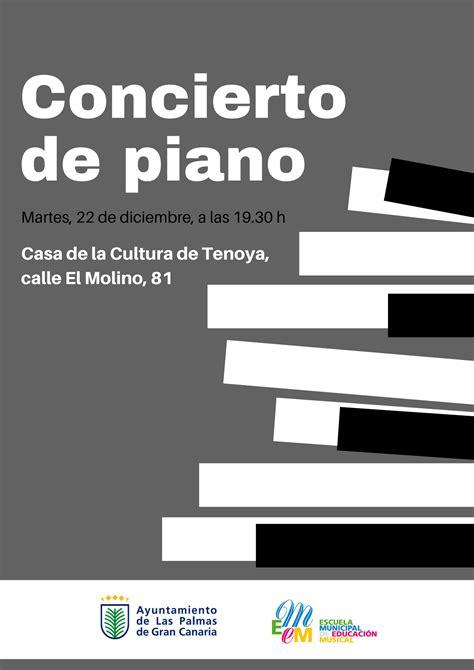 Concierto de piano de la Escuela Municipal de Educación ...