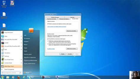 Conexion a Escritorio Remoto Windows 7   YouTube