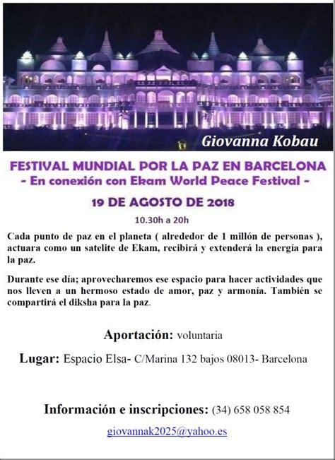 Conexión con el festival Ekam por la paz mundial  guiado ...