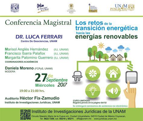 Conferencia Magistral Los retos de la transición ...