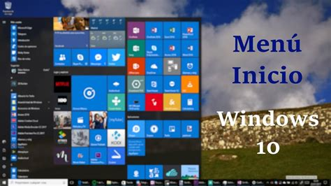 Configuración menú inicio windows 10   YouTube
