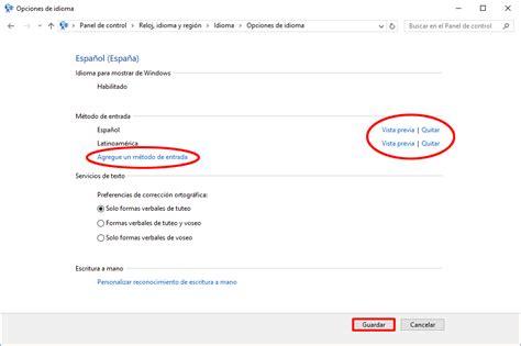 Configurar el teclado en Windows 10 o Windows 8 u 8.1