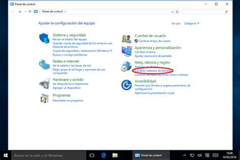 Configurar el teclado en Windows 10 o Windows 8 u 8.1 ...
