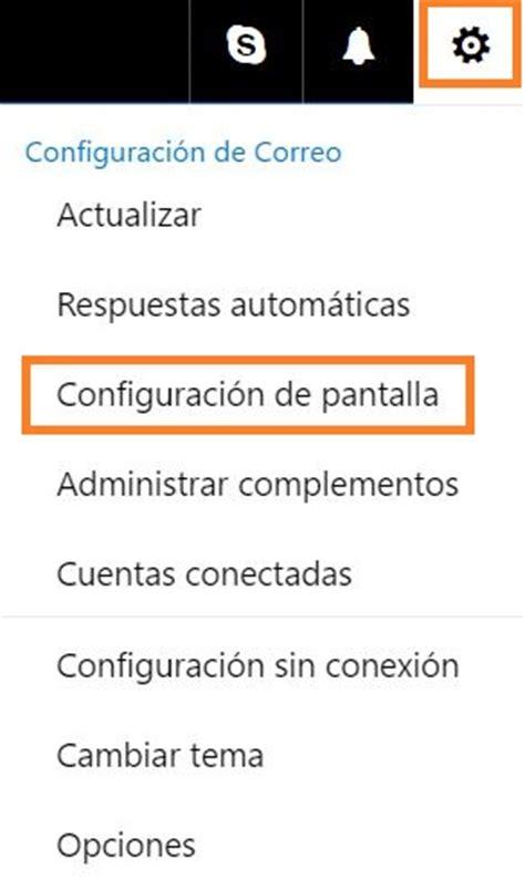 Configurar la pantalla de Outlook.com | Trucos Outlook