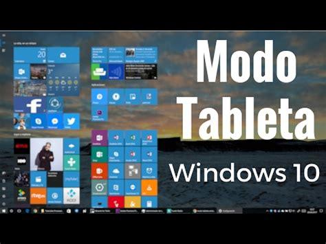 Configurar modo tableta Windows 10 en español   YouTube