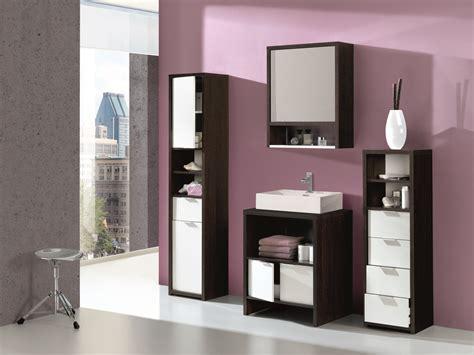 Conjunto completo de espejo, lavabo y estanterías bicolor ...