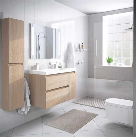 Conjunto de baño moderno compacto suspendido con mueble ...