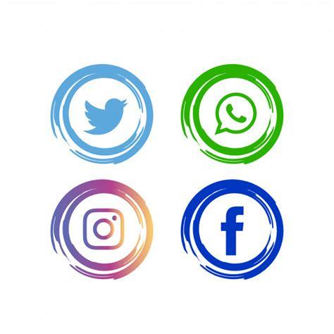 Conjunto de iconos de redes sociales abstractos ...