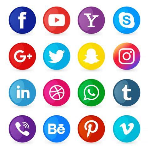 Conjunto de iconos de redes sociales   Descargar Vectores ...