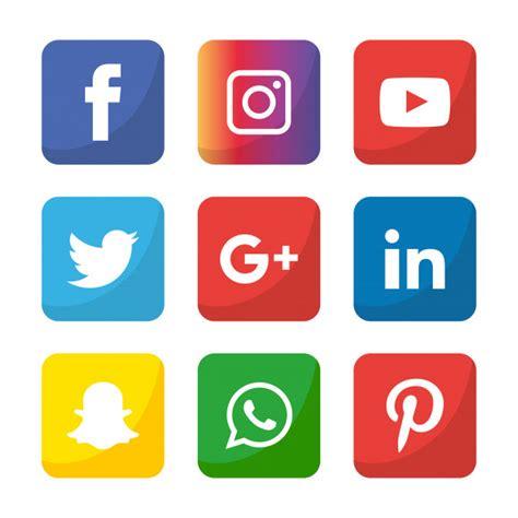 Conjunto de iconos de redes sociales. logo illustrator ...