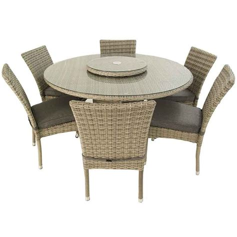 Conjunto de jardin. Mesa redonda 135 cm y 6 sillas ...