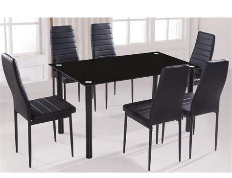 Conjunto de mesa de cristal templado y 6 sillas en ...