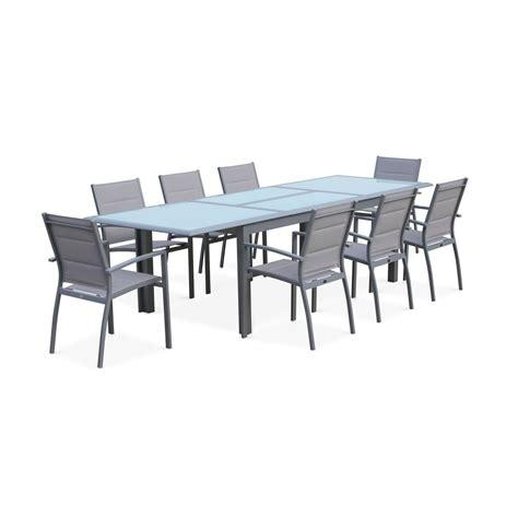Conjunto de mesa de jardín con sus sillas, Aluminio, 8 ...
