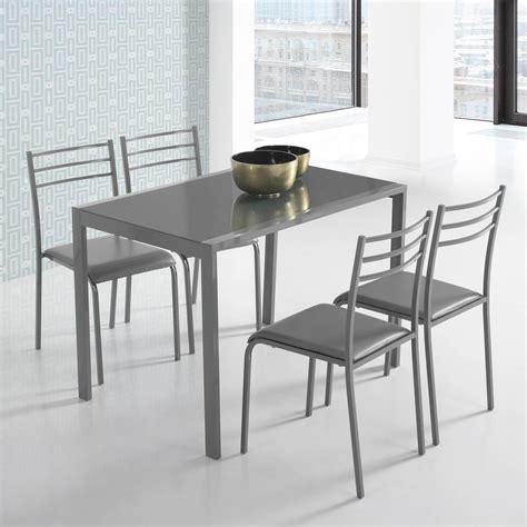 Conjunto de mesa y 4 sillas alfa en colores   Closet Norte