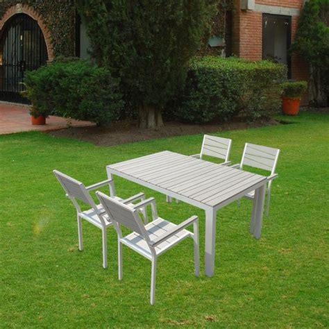 Conjunto de mesa y sillas polywood para jardín   379,00 ...