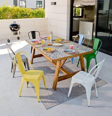 Conjunto de muebles de exterior Soho extensible de acero ...