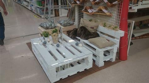 Conjunto de muebles de jardín con palets   Leroy Merlin