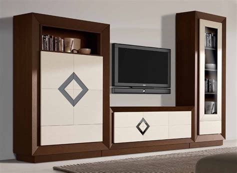 Conjunto de muebles de salón moderno con vitrina puertas ...