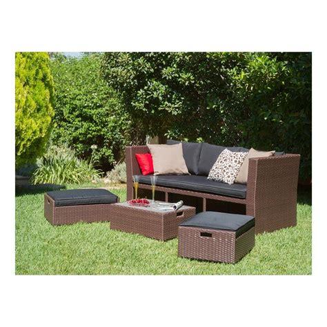Conjunto de muebles para jardín, sofá convertible jardin.