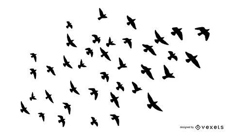Conjunto de siluetas de aves silvestres   Descargar vector