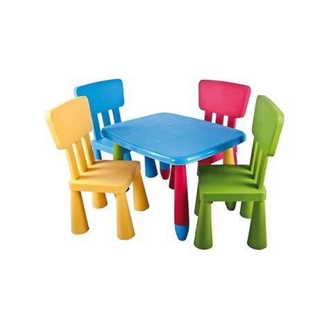 Conjunto infantil de mesa rectangular y sillas de colores ...