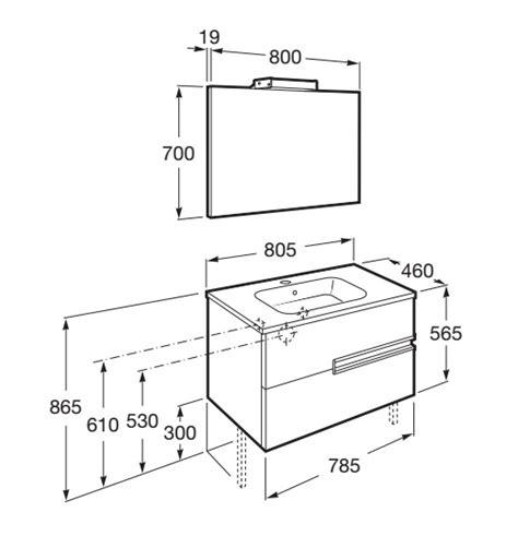 Conjunto Mueble de baño Roca VICTORIA N 80x46   blanco