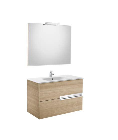 Conjunto Mueble de baño Roca VICTORIA N 80x46   roble