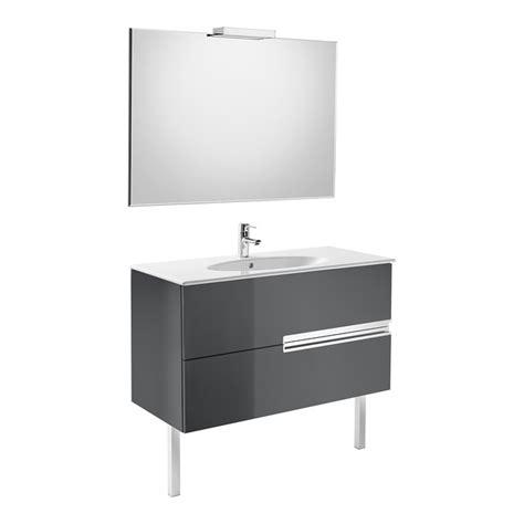 Conjunto Mueble de baño Roca VICTORIA N Oval 80x46cm   gris