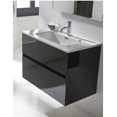 Conjunto mueble de baño Sanchís Glass Line suspendido 2 ...