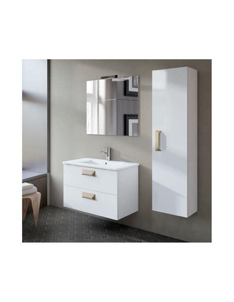 Conjunto mueble de baño suspendido Alberta  2 cajones ...