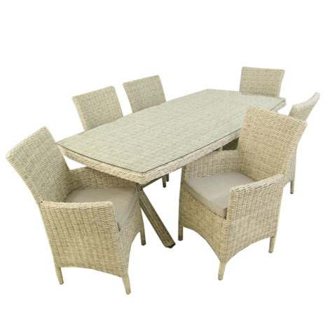 Conjunto Muebles Jardín | Mesa 200x100 Cm Y 6 Sillones ...