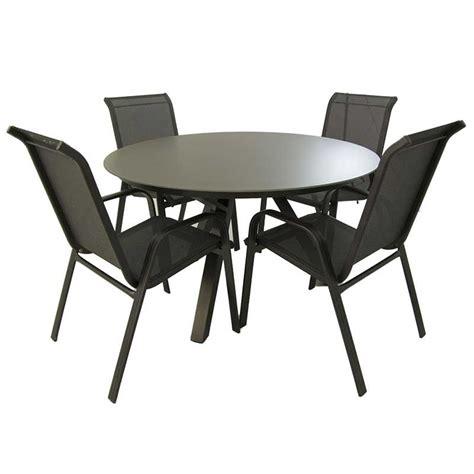Conjunto muebles jardin. Mesa redonda y 4 sillones ...