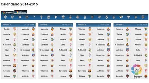 Conoce el calendario de la Liga BBVA 2014/15 | Noticias ...