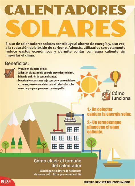 Conoce los beneficios de los calentadores solares en la # ...