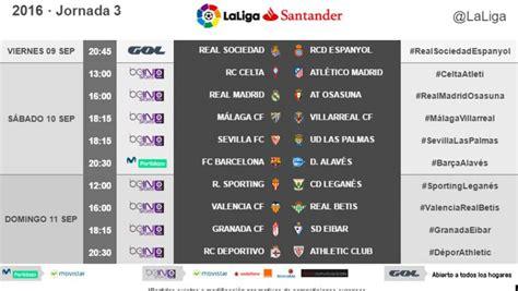 Conoce los horarios de la tercera jornada de LaLiga Santander