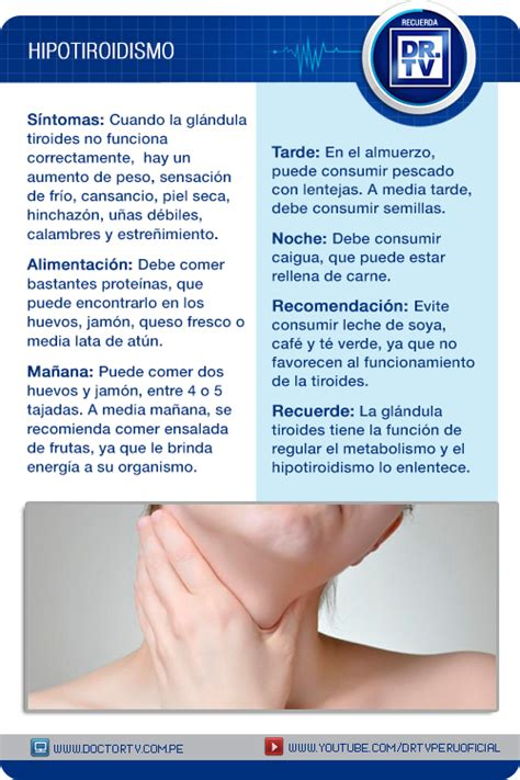 Conozca los síntomas del Hipotiroidismo. | Hipotiroidismo ...