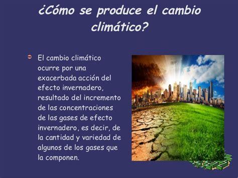 consecuensias del cambio climático