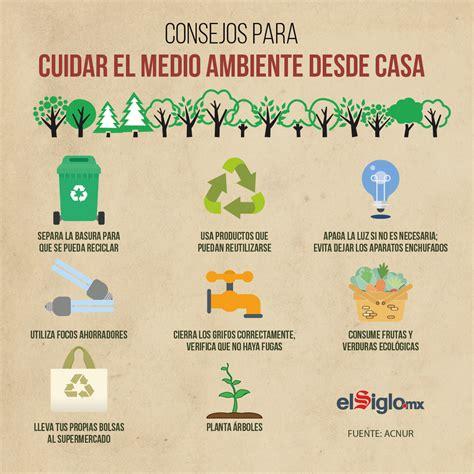 Consejos para cuidar el medio ambiente desde casa   El ...