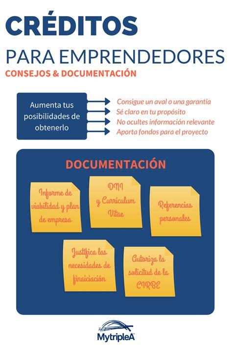 Consejos y documentación para los créditos para emprendedores