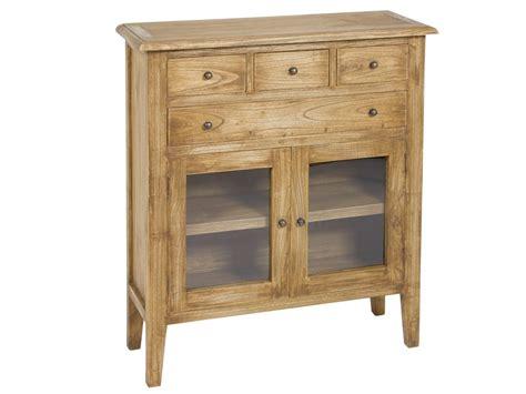 Consola auxiliar de madera envejecida estilo rústico color ...
