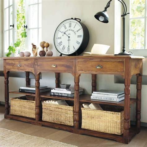 #consola de madera y ratán de Maison du Monde #decoracion ...