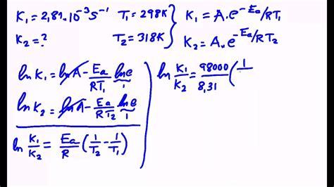 Constante de velocidad de una reacción química y energía ...