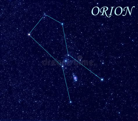 Constellation Orion stock illustration. Illustration of ...