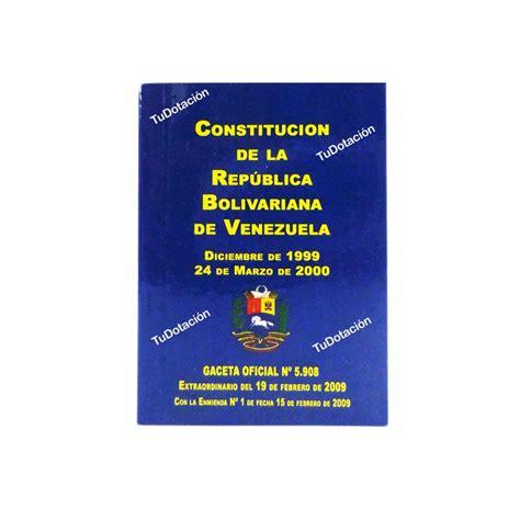 Constitución De Bolsillo República Bolivariana De ...