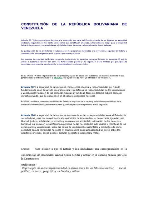 Constitución de La República Bolivariana de Venezuela ...