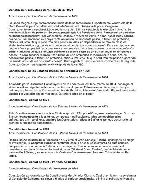 Constitución del Estado de Venezuela de 1830 | Venezuela ...